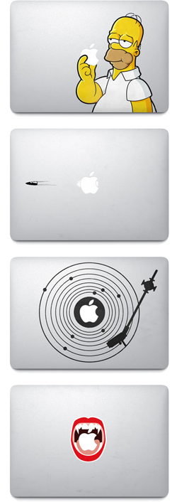 Macbook commercial makes decals and sticker sales rise