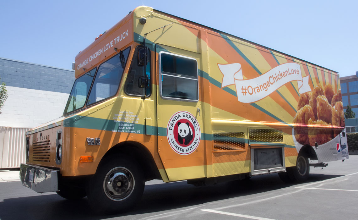 Box Food Truck Wrap Panda Express