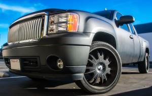 DMS matte black truck