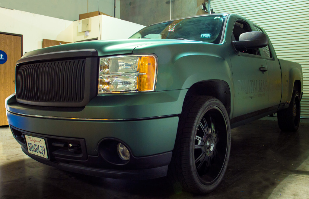 Green Truck Vehicle Restyling