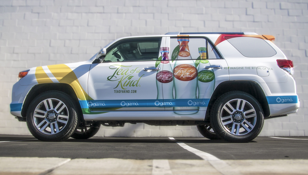 Tea of a Kind truck wrap